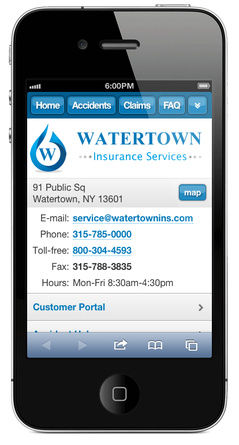 m.watertownins.com website preview